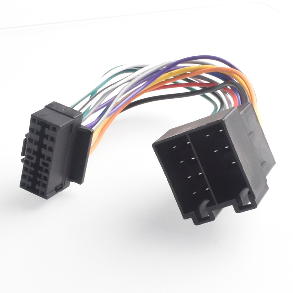 16pin rádio estéreo do carro chicote de fios iso para rádio sony para iso rádio play plug auto adaptador conector cablagem