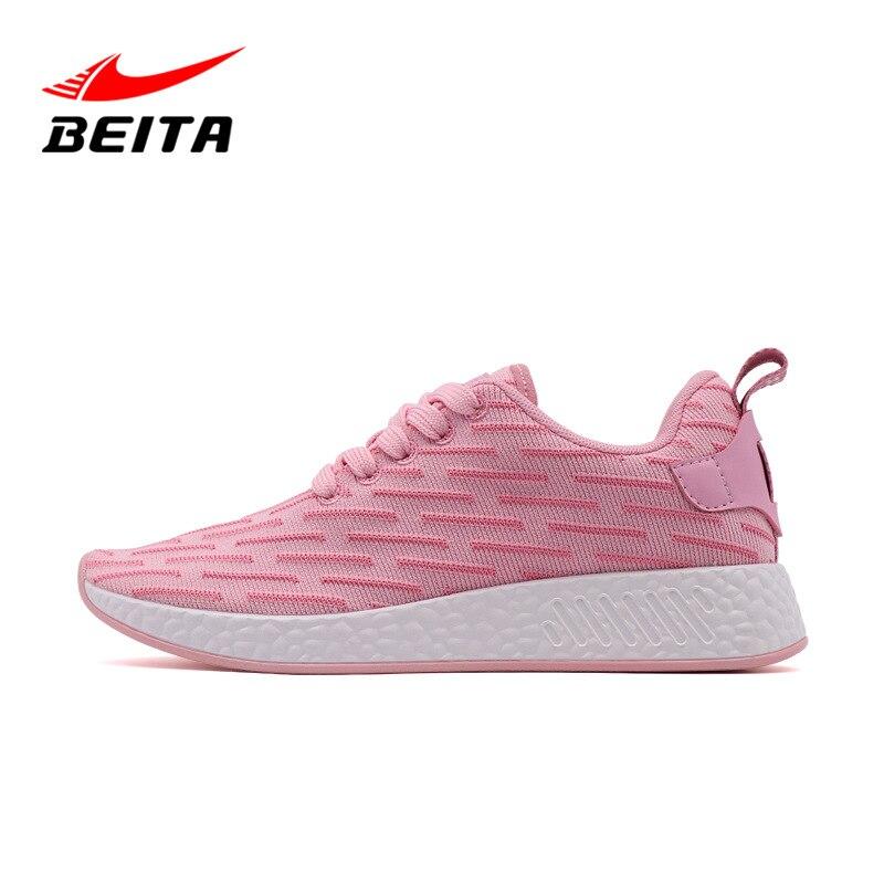 Beita Женская легкая спортивная обувь для бега на открытом воздухе, однотонные дышащие АМОРТИЗИРУЮЩИЕ НЕСКОЛЬЗЯЩИЕ кроссовки, прогулочная об...