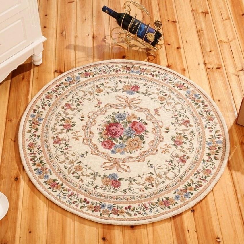 Tamaño grande London estilo Rosa floral silla mat, parlon decoración alfombra, beige redondo suelo mat, 160cm * 160cm envío gratis