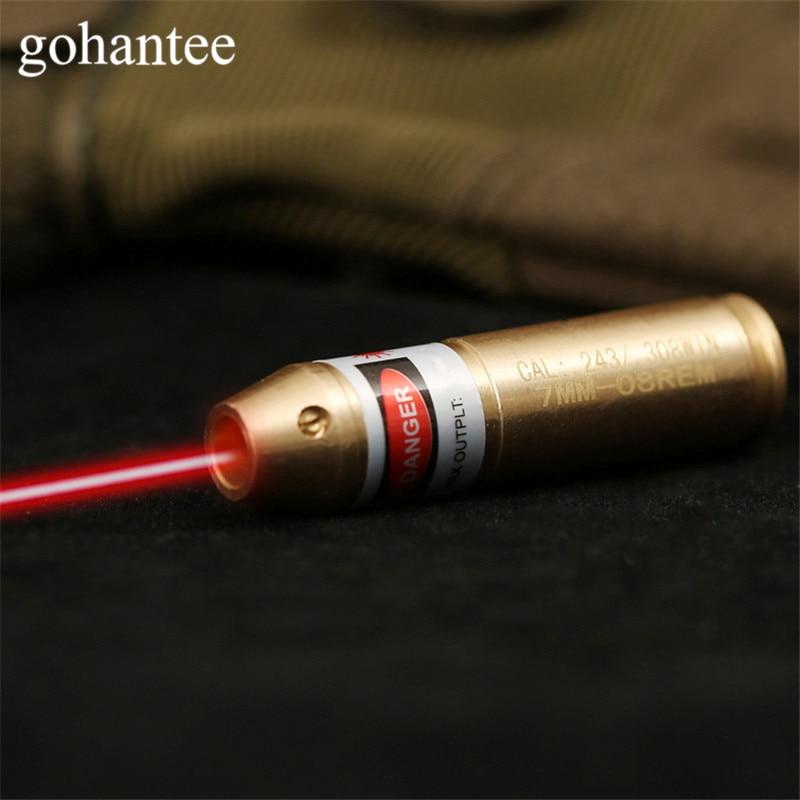 gohantee Hunting Boresighter Tactical Cal .308 .243 Cartridge Red Dot Laser Boresighter Rifles/Gun 308 243 Caliber Bore Sighter