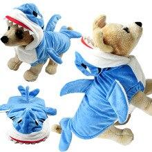 Costume de requin drôle dhiver   Vêtements cosplay pour Yorkshire petit chien chat, fête Halloween chien, manteau personnalisé, combinaison capuche