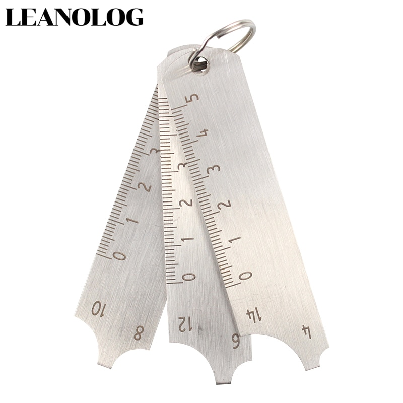 Welding tools Stainless Steel  Welding Gauge Key Pocket Gage 3 Pcs Gauge Set Weld Seam Test Ulnar Inspection Ruler недорого