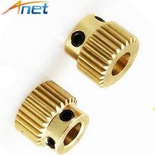 6 PCS/Lot Anet cuivre Extrusion roue tête engrenage 26 dents alésage 5mm diamètre 11mm pour MK8 extrudeuse partie pour Anet 3D imprimante