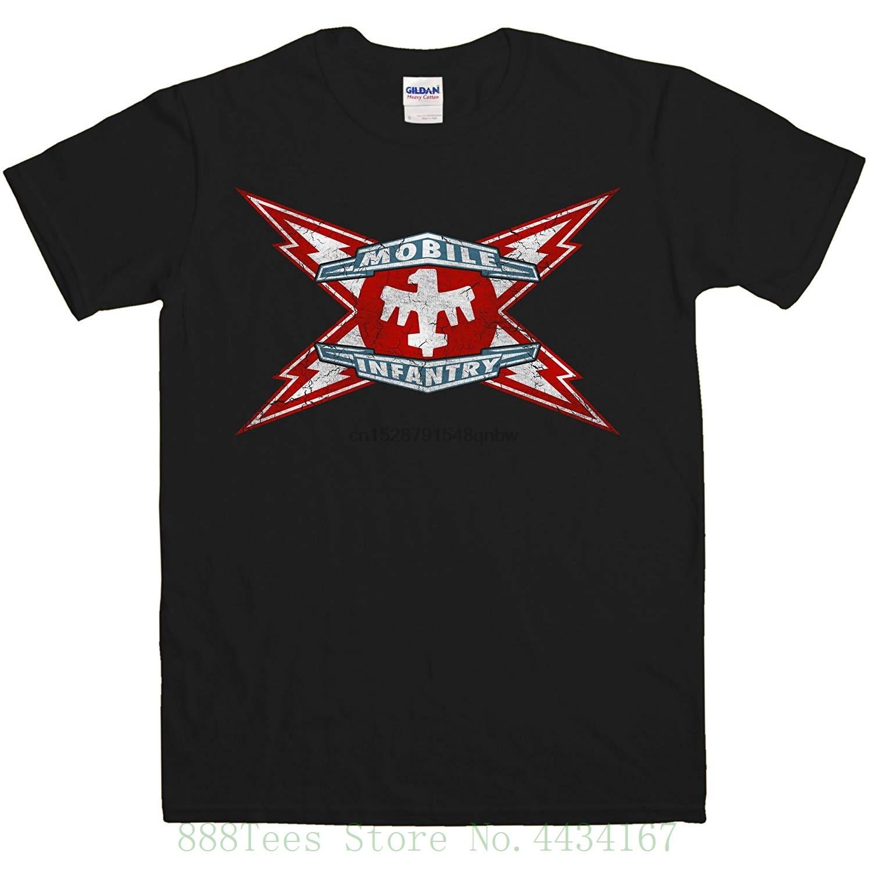 Original-para hombre inspirado por Starship Troopers-móvil infantería Camiseta cuello redondo Camiseta de manga corta
