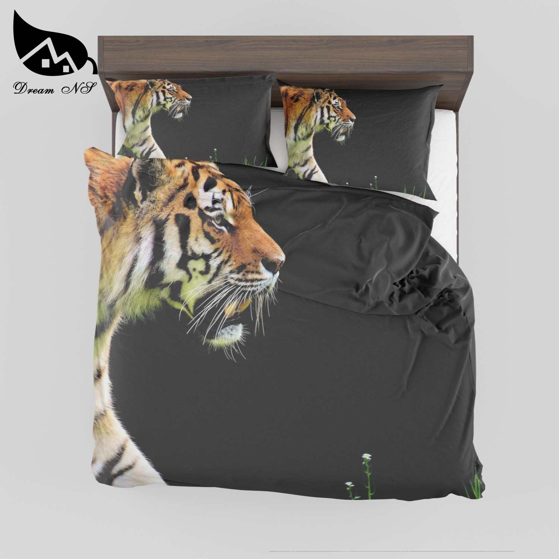 Dream NS 3D Bedding Set Tiger Print Duvet Cover Set Bedcloth with Pillowcase Bed Set Home Textiles SMY046