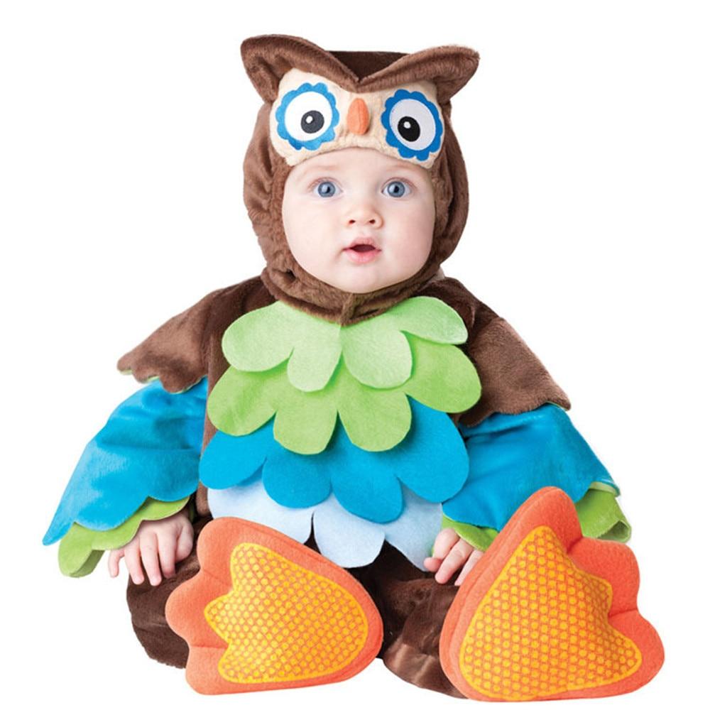 Jungen mädchen Weihnachten Halloween eule Kostüme Infant Baby Mädchen Strampler Overalls Tier Cosplay Kleinkinder Kleidung Anime