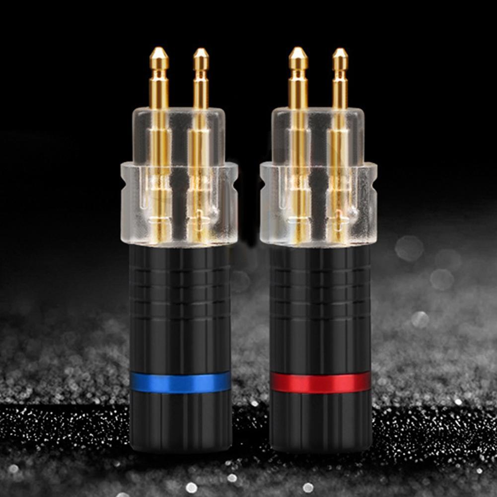 2Pcs Earphone Cable Pin Plug Connector for Sennheiser HD650 HD600 HD580 HD25 new