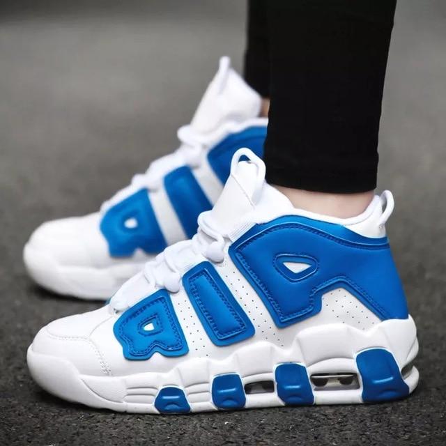 POLALI מותג כדורסל נעלי גברים גבוהה למעלה ספורט אוויר כרית ירדן Hombre אתלטי Mens נעלי נוח לנשימה סניקרס