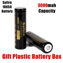 Sofirn 3,7 V 18650 3000mah перезаряжаемая батарея с предварительной зарядкой 3,7 V Li-Ion 18650 литиевые батареи для светодиодный фонарь