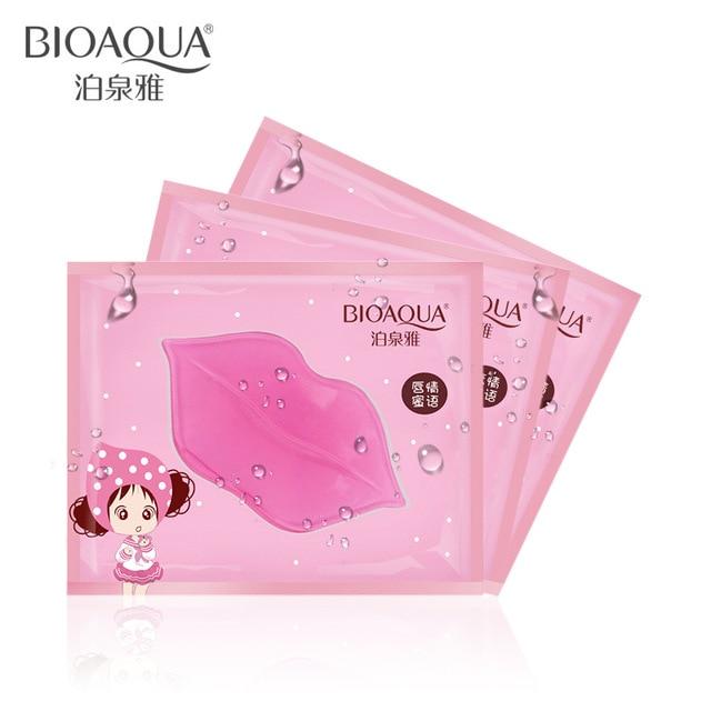 Коллагеновая Маска Для губ BIOAQUA, 10 шт., увлажняющая маска для губ от старения против морщин, гелевый патч-коврик, полный увеличитель губ