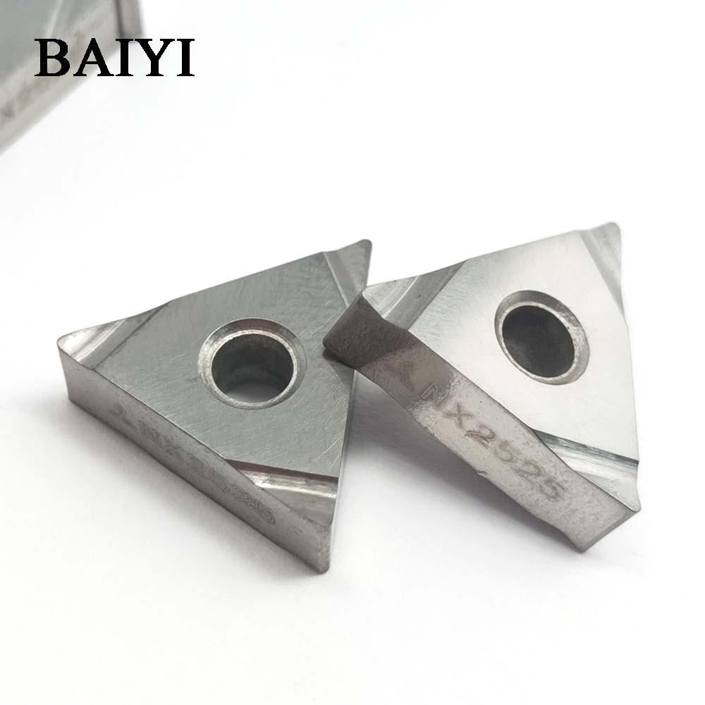 10 pcs TNGG160404 L-F NX2525 carboneto de tungstênio enfiar inserção de rosca ferramenta de tornear titular bar chato cnc máquina