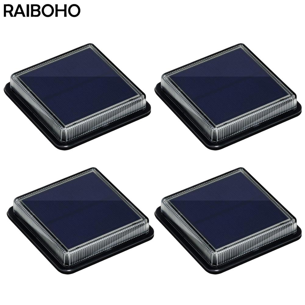 6 pcs solar led pathway driveway light dock path step road safety marker white blue red light Solar Step Light Garden Ground Stairs Dock Deck Pathway LED Lamp Outdoor for Yard Patio Walkway Driveway Warm White