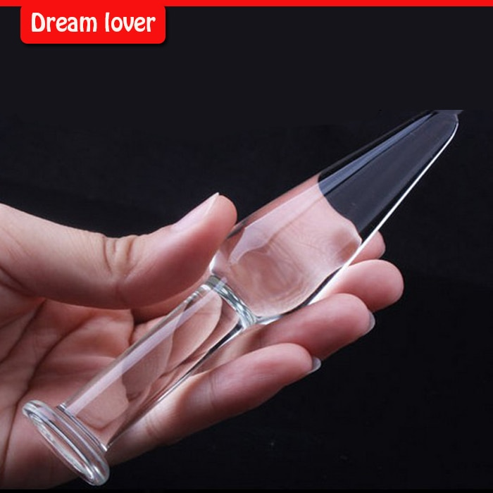 Glass Mini Anal Toys  12*2.3cm, glassButt Plug,Sex Toys for adult, Backyard plug female/male