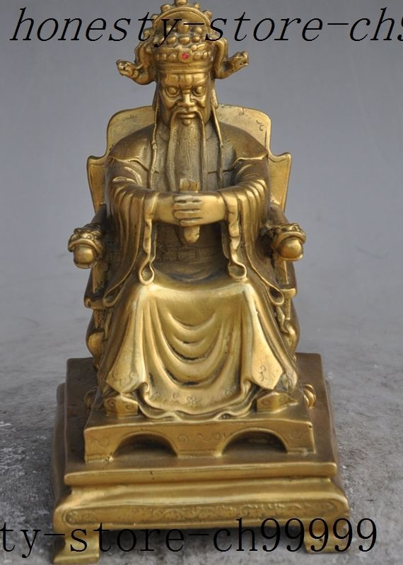 Navidad china feng-shui tradicional, asiento de la riqueza de latón, Jambhala Mammon auspicioso afortunado, estatua de halloween