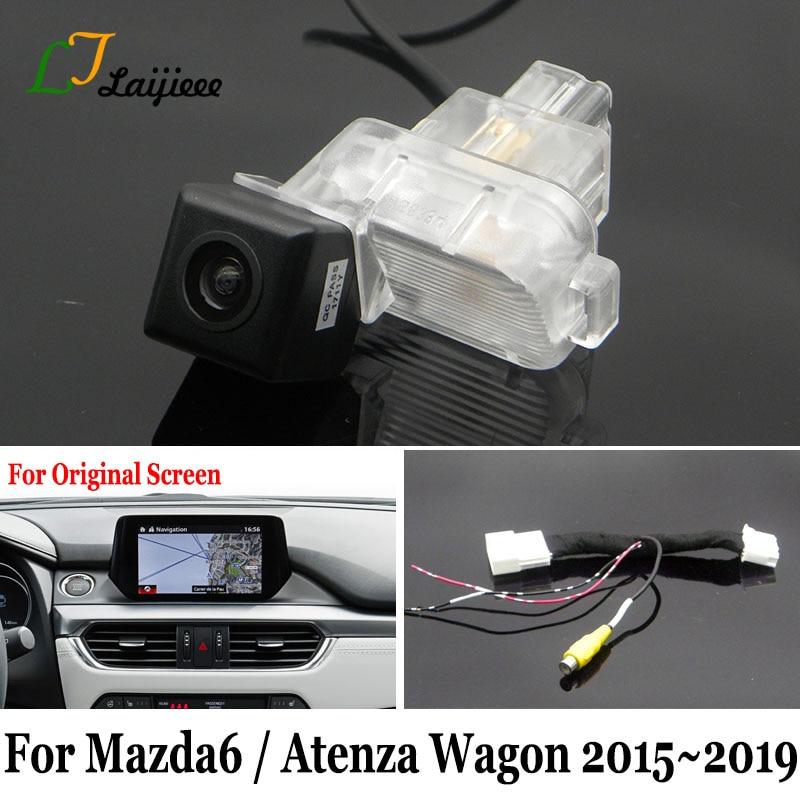 Cámara de marcha atrás para Mazda 6 GJ Mazda6 Atenza Wagon 2016 de 2017 de 2018/2019/pantalla Original Compatible con cámara de visión trasera