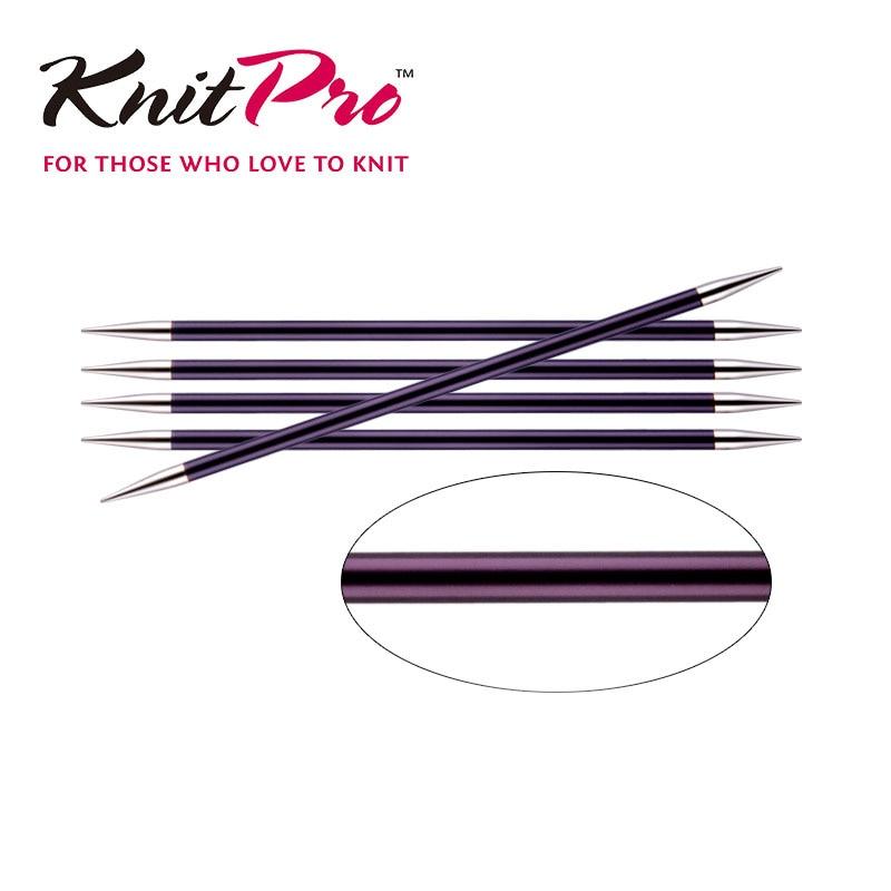 1 штука Knitpro Zing 20 см двойная заостренная вязаная игла