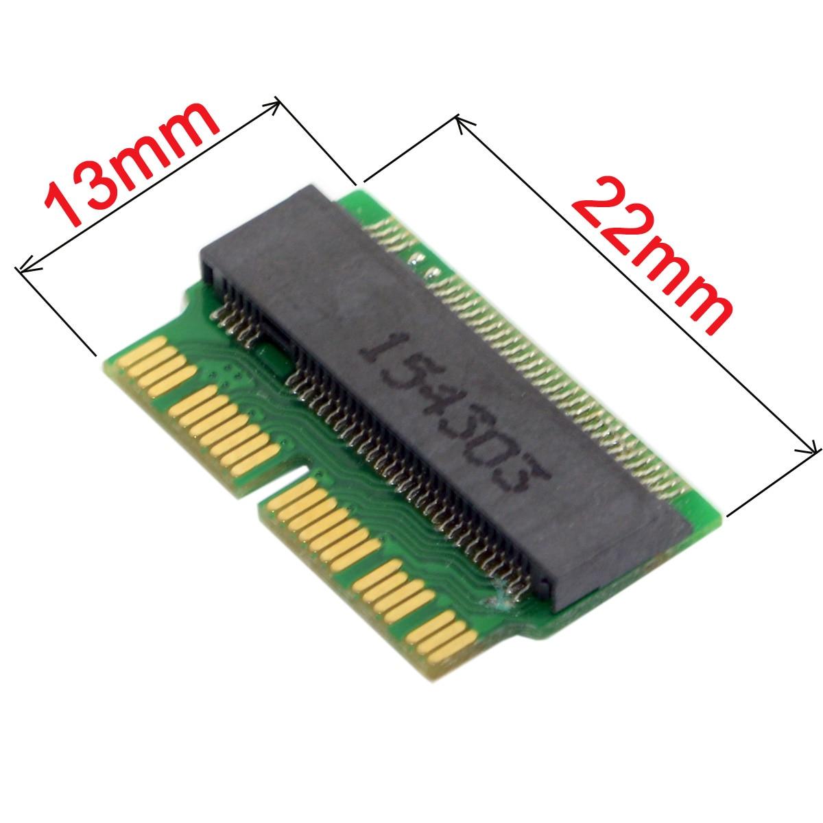 12 + 16pin 2014 2015 mac para m.2 ngff m-chave ahci ssd converter cartão para a1465 a1466 a1493 a1502