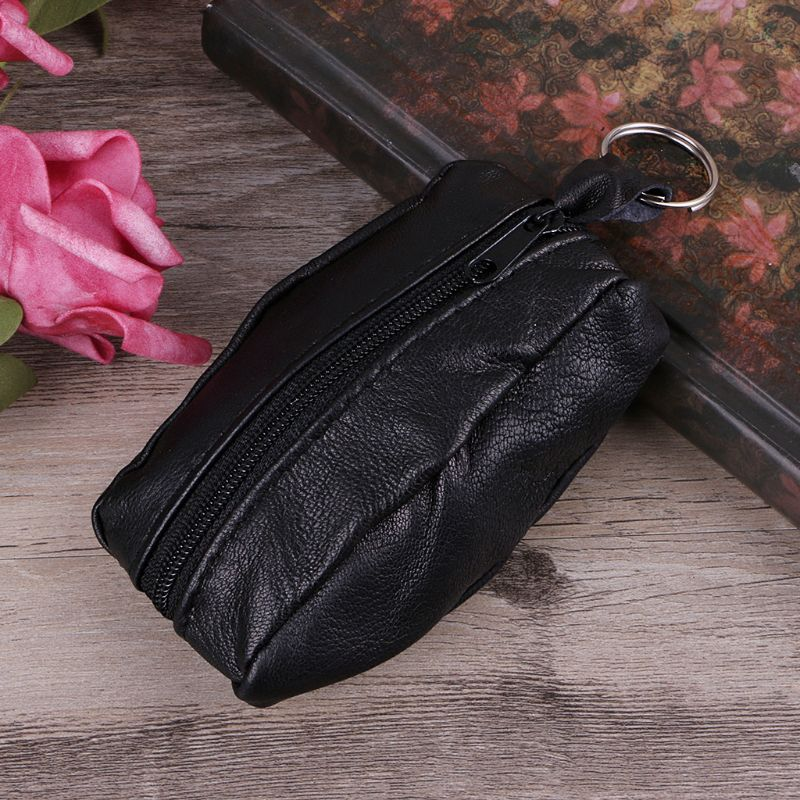 Women Girls Key Ring Wallet Pouch Coin Card Mini Purse Zipper Small Change Bag  Fashion design big capacity