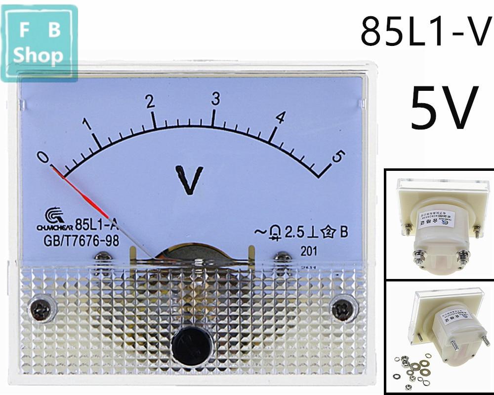 1PCS 85L1-V 1V 2V 3V 5V 10V 15V 20V 25V 30V 50V AC Analog Voltmeter Panel Voltage Meter 64*56mm