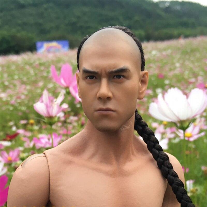 Mnotht 1/6 Asian Famosa Estrela Cabeça Esculpida Eddie Peng Yuyan headplay cabelos implantados Dois estilo Personalizado l30