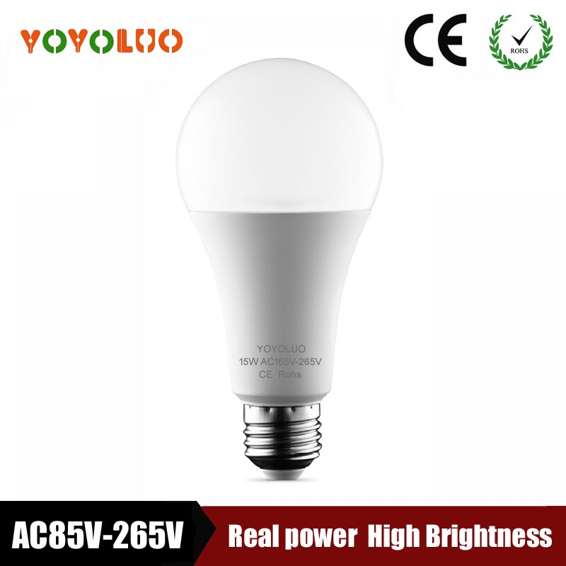 Nueva lámpara LED 3W 5W 7W 9W E27 W 12W 15W AC85V-220V 110V Bombilla LED SMD2835 rápida disipación de calor de alta brillante Lámpara bombilla LED
