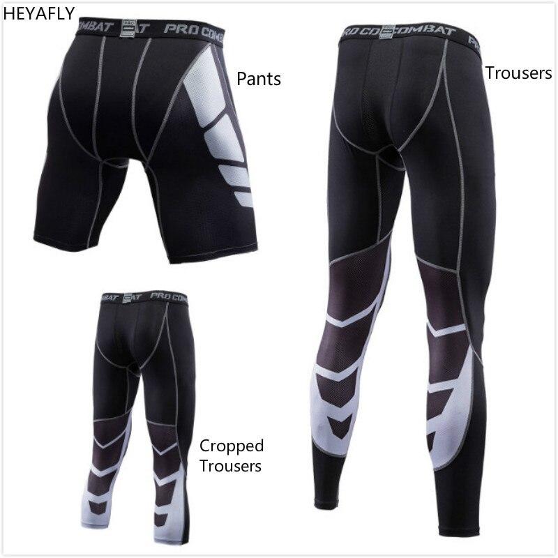Esportes dos homens E Calças De Fitness Calças de Corrida de Basquete, Elástica E de Secagem Rápida Calças Cortadas Calças de Musculação