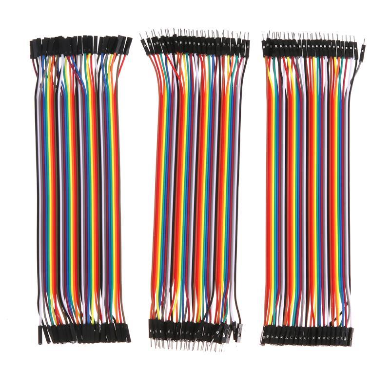 120 Uds Dupont cable 20cm macho a macho + macho a hembra y hembra a hembra Dupont cable DIY kit para Raspberry Pi Arduino
