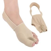2 pièces = 1 paire Silicone souple Bunion correcteur chaussettes pouce Hallux Valgus protecteur orteils soutien Bunion soin Bandage soin des pieds