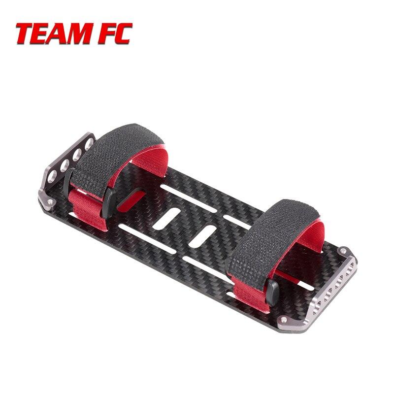 Placa de montaje de batería de fibra de carbono negra para coche RC escala 110 coches trepadores de control remoto Axial SCX10 CC01 F350 D90 RC4WD modelo de juguete S212