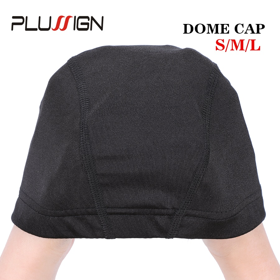 Plussign Best Selling Wig Cap With Good Quality Elastic Band For Making Wigs Cap Small Size Professional Anti-Slip Mesh Caps2Pcs