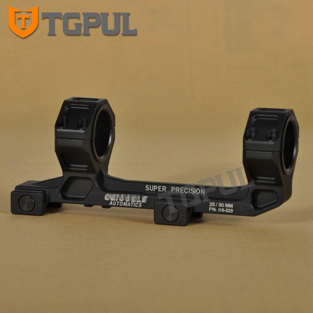 "TGPUL 1 "" / 30mm doble anillo voladizo montaje de alcance de alta resistencia sin nivel de burbuja Picatinny Weaver carril 20mm soporte y pistola de tiro"