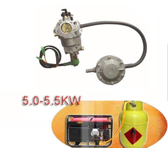 Propano GPL Kits De Conversão De Gás para Honda Gerador A Gasolina Do Carro 5KW-5.5KW Cilindros ECU Kits Injector Acessórios Redutor