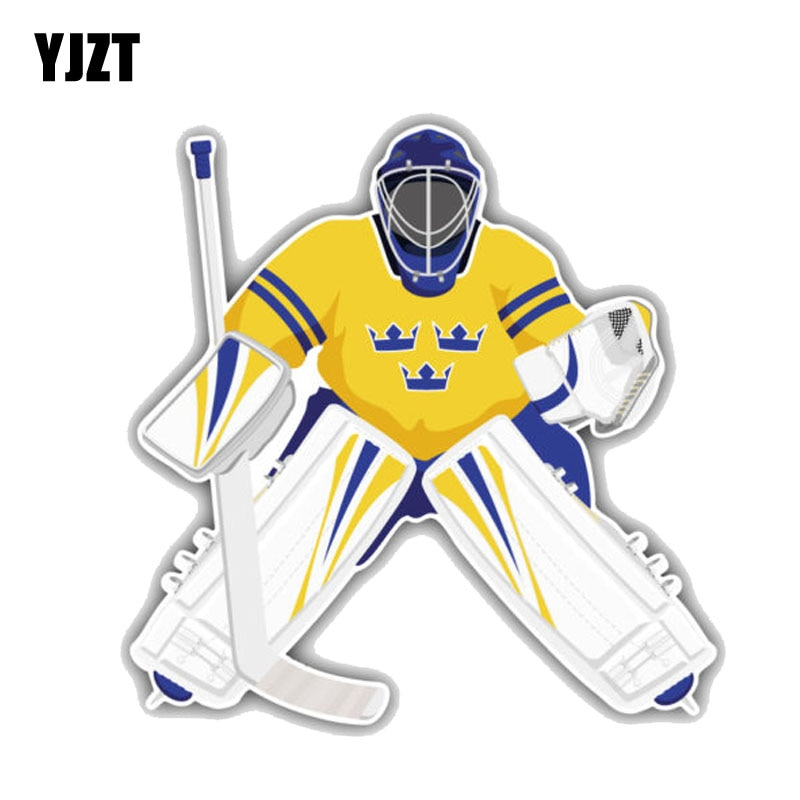 YJZT 13M * 13CM Suecia equipo de Hockey portero PVC motocicleta coche pegatina 11-00276