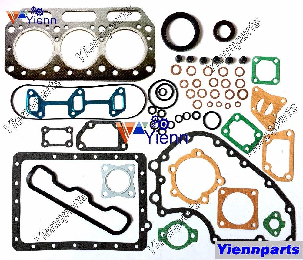 Para komatsu 3d75-1a kit de gaxeta completa principal & con conjunto rolamento da haste conjunto anel pistão para ym220 ym226 ym250d peças sobresselentes do motor trator
