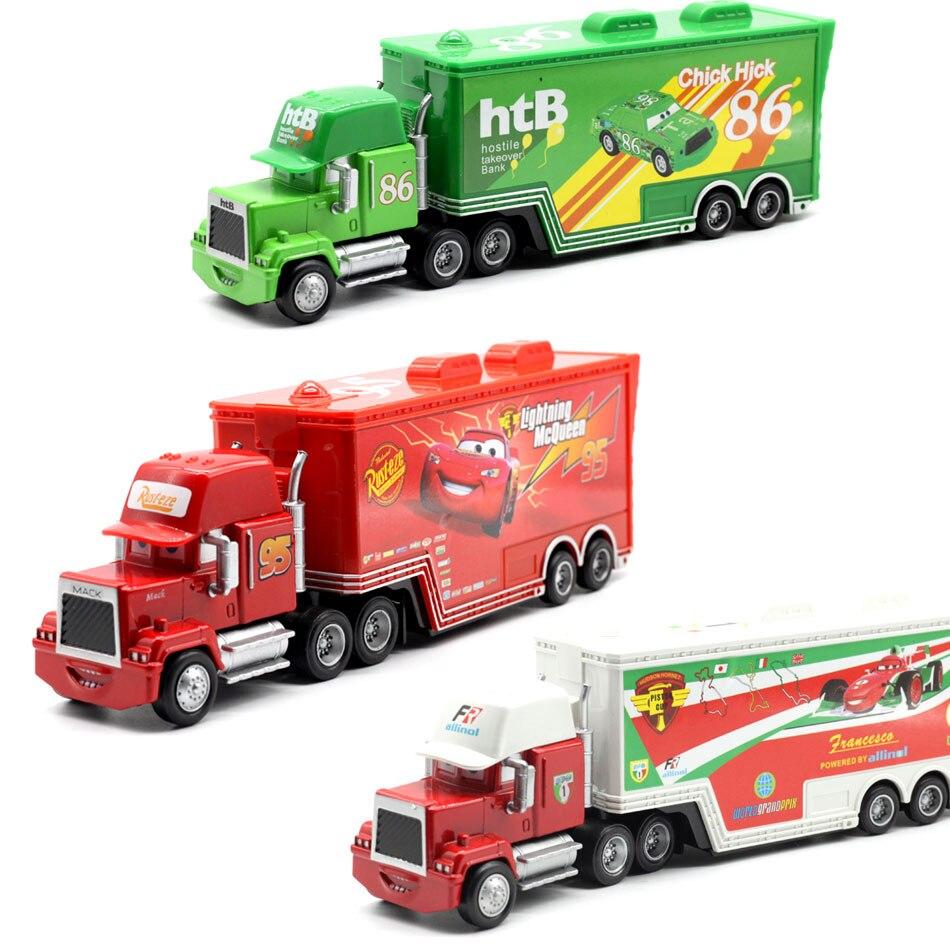 Disney Pixar машинки 4 вида стилей Mack грузовик McQueen дядя 1:55 Diecast металлического сплава и пластик Модель игрушечные машинки, подарки для детей