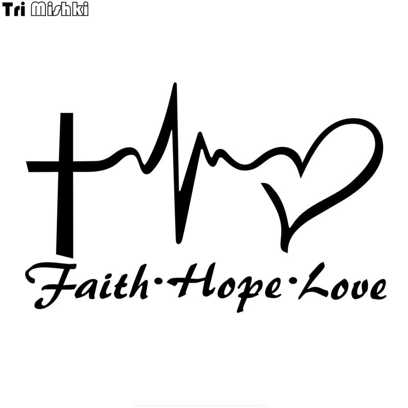 Tri Mishki HZX1021 20*12.8cm Life Pursuit faith hope love car sticker Vinyl Decals Motorcycle Accessories Stickers