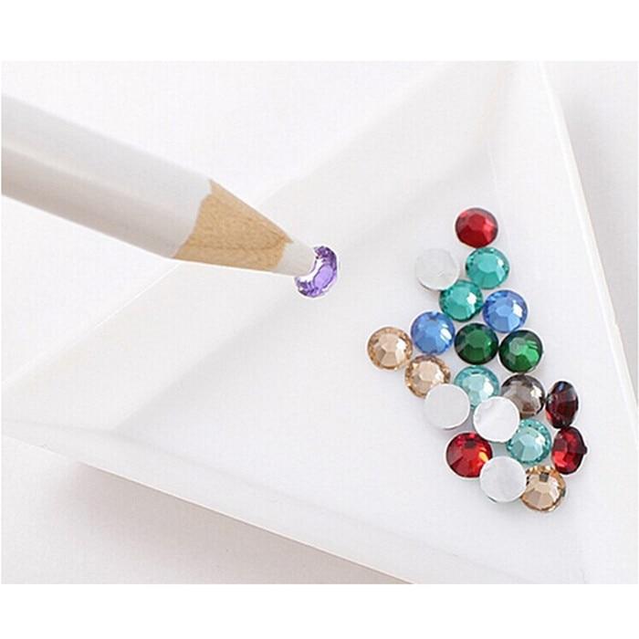 Lote de 2 unidades de diamantes de imitación Biutee para decoración de uñas, selección de gemas, diseño 3D, lápices de pintor, herramientas de recogida