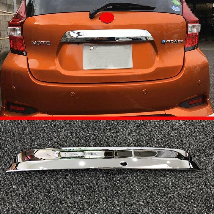 ABS Хромированная Задняя Крышка багажника, Накладка для Nissan NOTE 2017 2018