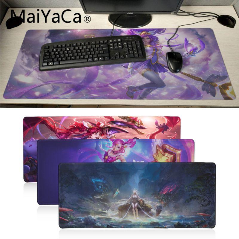MaiYaCa antideslizante para PC Star Guardian Janna LOL chica personalizada Juegos de ordenador portátil almohadilla de ratón de velocidad/versión de Control grande ratón de juego