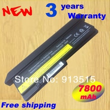 Nova bateria estendida 42T4534 42T4834 43R9255 42T4538 9 células 7800 mAh para IBM Lenovo ThinkPad X200 X200S X201 X201S X201i Series