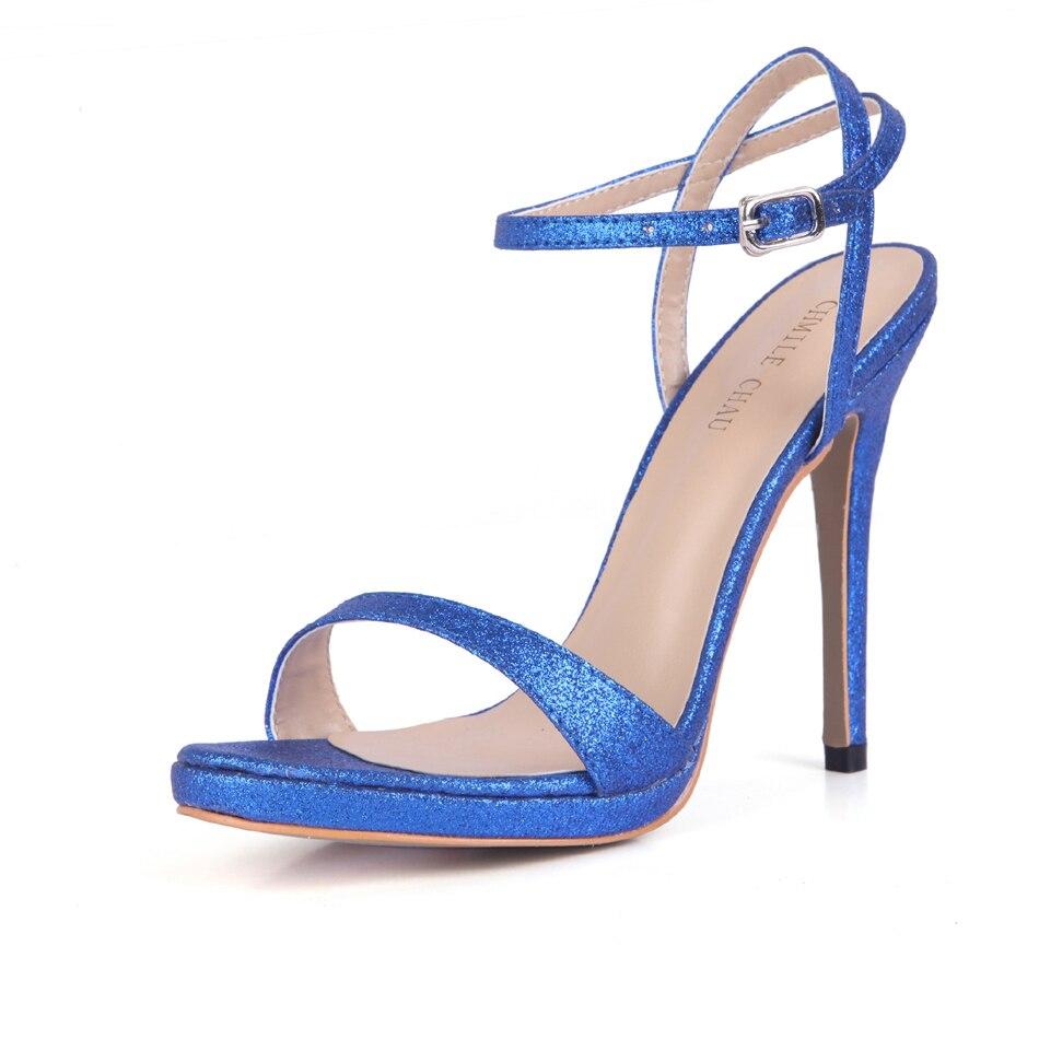 CHMILE CHAU-Sandalias de tacón alto nupciales de aguja para Mujer, Zapatos de Novia, calzado de tacón alto de aguja, 0640ASL-a15