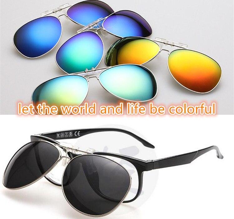 2017 clip avant-garde variedade de óculos coloridos clipe polarizado polaroid golfe pesca uv 400 masculino feminino óculos de sol