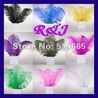 ems free shipping cheap ostrich feather 100pcs 18 20 inches 45 50cm assorted 4 colors ostrich drab feather