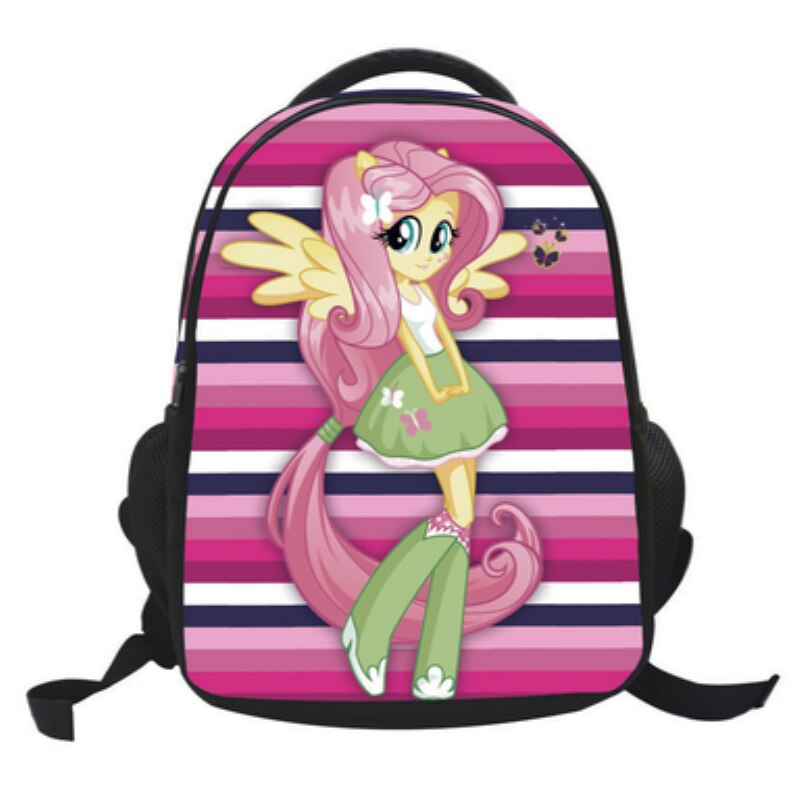 My Cute Little Custom Printed Plush Backpack Bag for Kids Pattern Fluttershy Girl