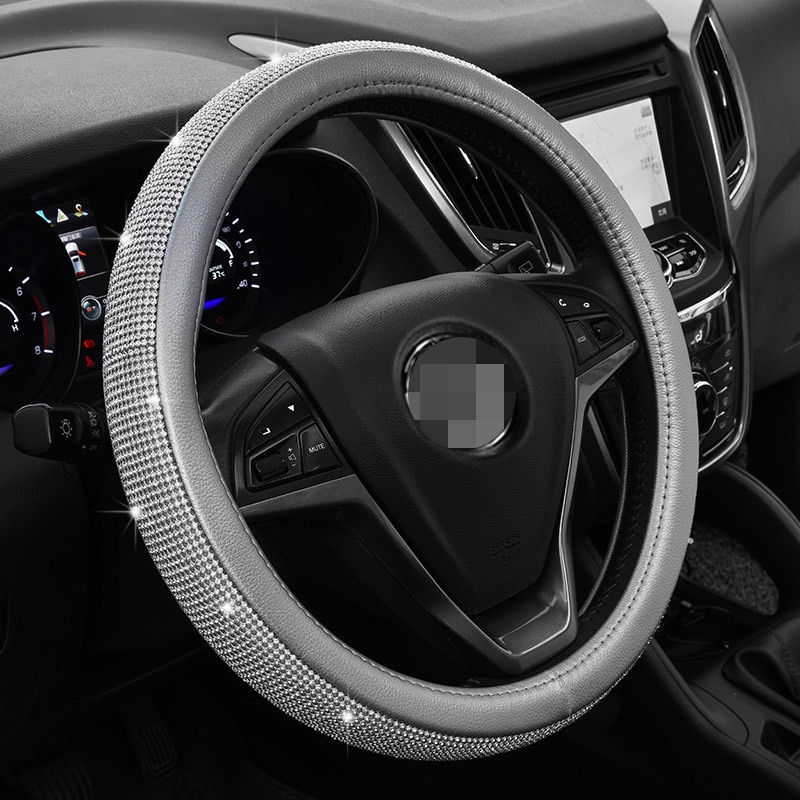 Cristal diamante manga de coche estilo femenino automotriz Interior 36-38 cm motores generales medios