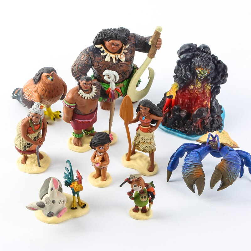 Disney новые игрушки Моана принцесса Мауи главный Tui Тала Heihei Pua ПВХ фигурка Коллекционная модель игрушки