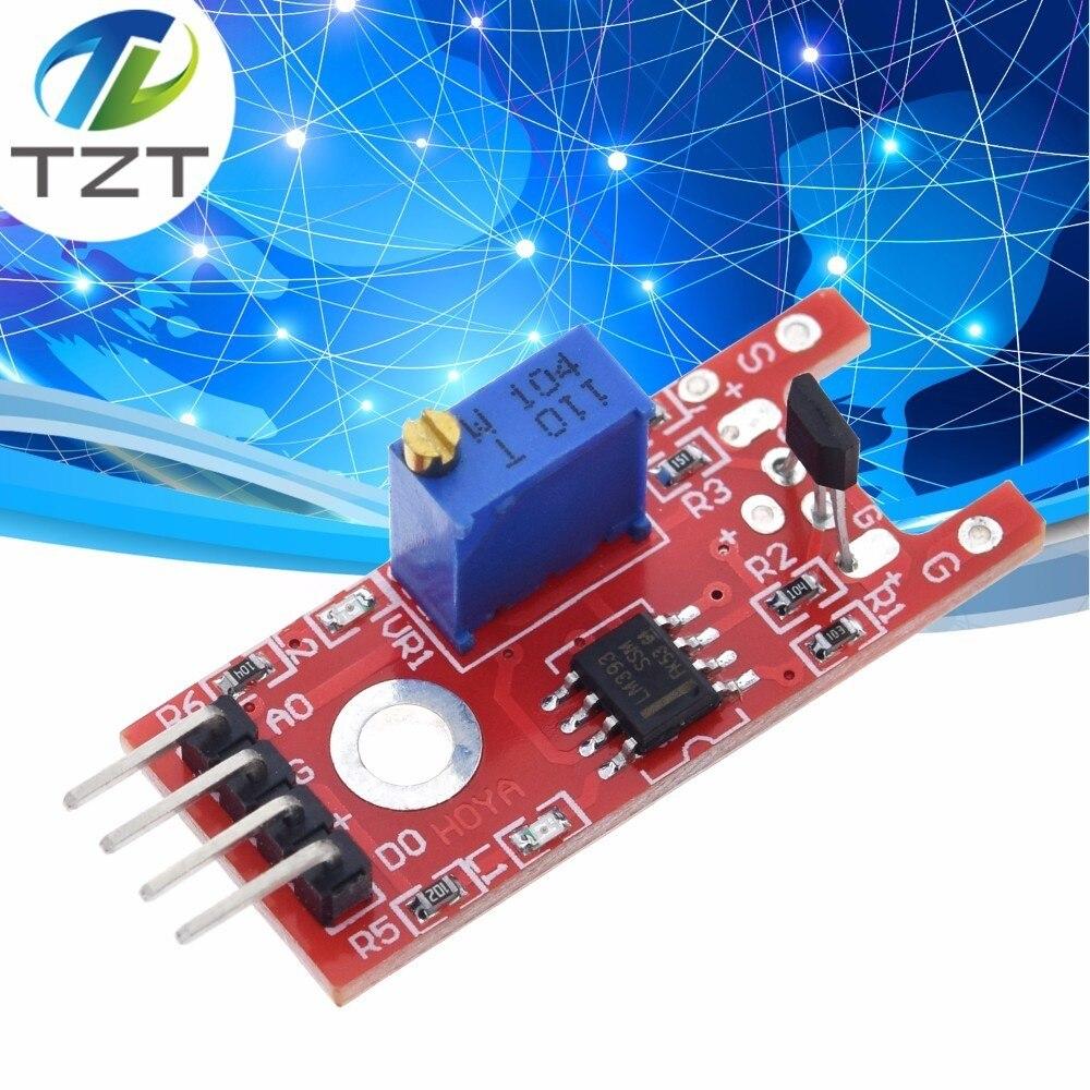 TZT умная электроника 4pin KY-024 линейные магнитные переключатели для зала счетчик скорости модуль датчика diy стартовый набор KY024 для arduino
