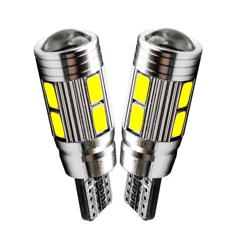 2Pcs T10 W5W 10 SMD 5630 5730 Led-lampen Auto Marker Licht Auto-Clearance Lampe Für Ford Focus 2 3 Fiesta Mondeo Ecosport Kuga