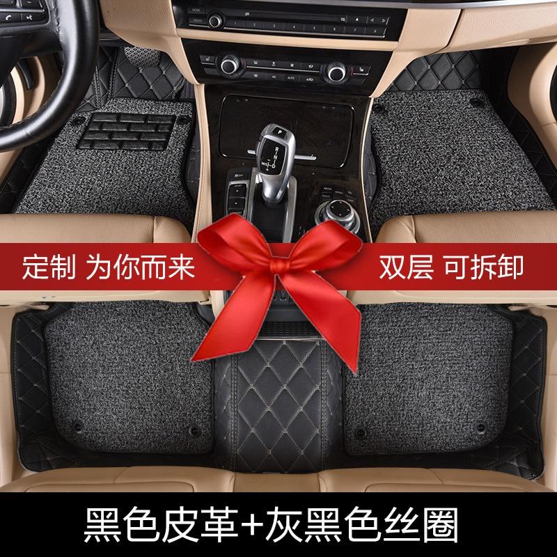 Myfmat coche personalizado alfombras de piso de cuero alfombras alfombra MG MG7 MG6 MG3SW MG3 MG5 MG-ZS MG-GS MG-GT envío gratis antideslizante impermeable