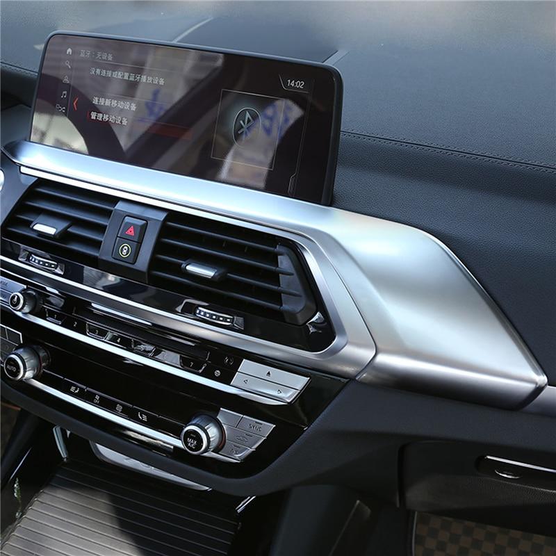 ABS cromo cubierta consola aire acondicionado salida de ventilación pegatina embellecedor decorativo para BMW X4 G02 accesorios interiores 2018 2019